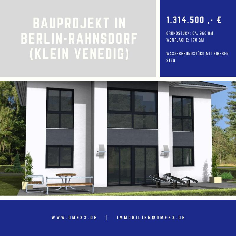 Bauprojekt in Berlin-Rahnsdorf<br>(Klein Venedig) Wassergrundstück
