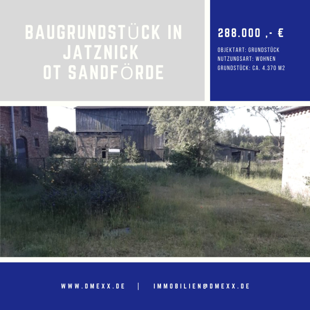 Grundstück Jatznick OT Sandförde